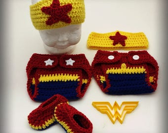 Crochet Wonder Woman Set of 3
