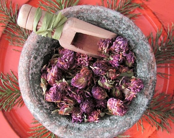 Dried Herb, Red Clover Blossoms, herbal tea, Red Clover