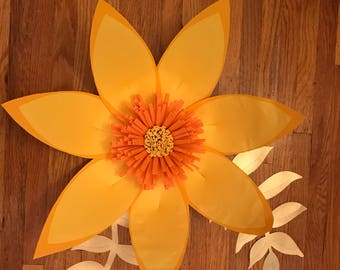Paper Flower Template Digital, pdf, #6