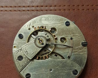 1878 Springfield Illinois pocket watch movement • Will H. Beck • Run quantity 200 total production 700 *EXTREMELY RARE*
