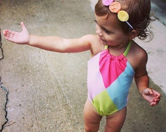 Tri-Rosette Headband - Baby Girl Heaband