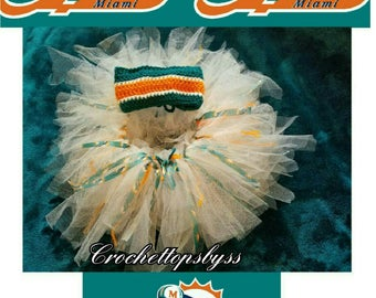 Miami Dolphins Infant Girls' Crochet Bandeau Top & Tutu