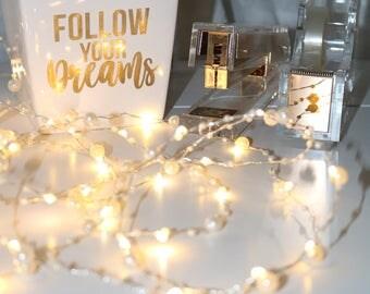 Follow Your Dreams White Pen Holder, Desk accessories, Inspirational, Office, Desk, Motivational desk accessories, Pen holder, pencil holder
