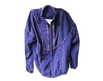 SALE - Navy Stripped Vintage Jacket