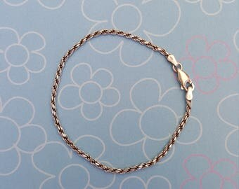 925 Twist Chain Bracelet