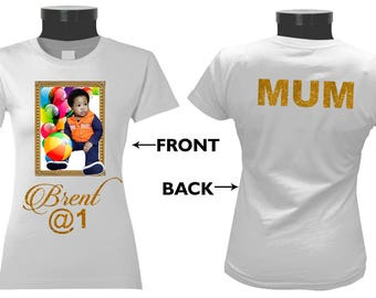 One Customised T Shirt with Framed Photo Recommended for Birthdays, Gift or Anniversaries