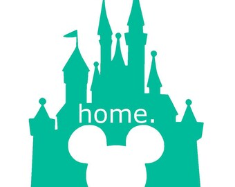Disney Castle with Mickey Ears Vinyl Decal | Home | Mickey Mouse | Yeti Cup Decal | Car Window Sticker | Laptop Decal | Princess Castle |