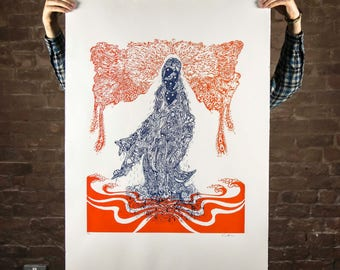 Quan Yin Psychedelic Print 70x100 edition of 50
