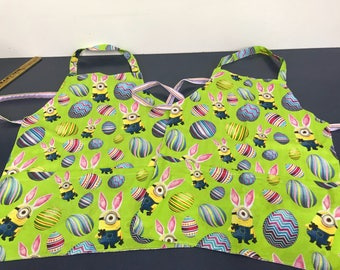 Child size Minion Easter Apron Free Shipping!!
