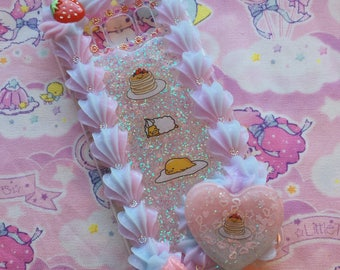 Galaxy s8 Decoden Phone Case Whip Border Sweet Strawberry READY TO SHIP