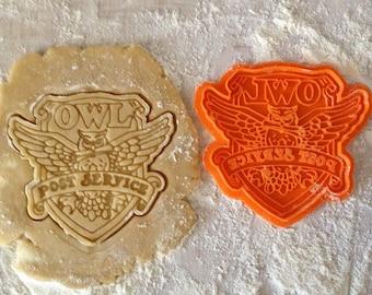 Owl Post Stamp Etsy