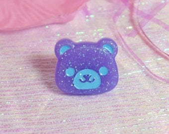 Pastel Bear Ring Fairy Kei