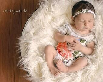 Newborn Romper, Newborn Girl Photo Outfit, Newborn Girl Photography Prop, Newborn Photo Outfit, Newborn Photo Prop, Baby Girl Romper,