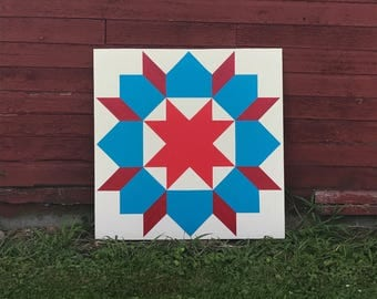 Red, White, and Blue Barn Quilt