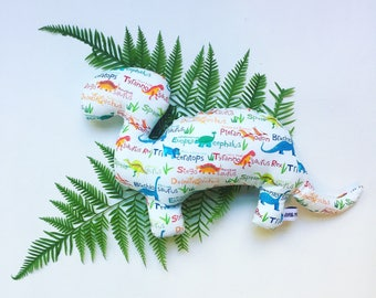 Dinosaur Toy Dino Names// Baby Toy// Cloth Toy// Cloth Doll// Baby Softie// Cuddly Toy// Baby Shower Gift// Gift for Toddler// Nursery Decor