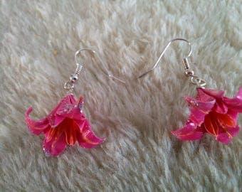 """Lily"" Fuchsia earrings"