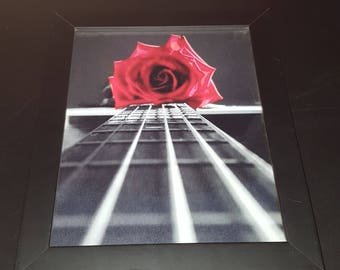 Red Rose on an Acoustic Guitar - Lisa Donnelly