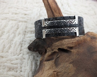 SALE... Greek style leather bracelet