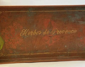 "Large Metal Tray ""HERBES 1"" from the HERBORISTE collection"