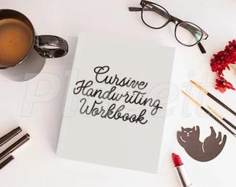 PDF Digital Printable Cursive Handwriting Workbook