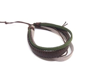 Brown men bracelet