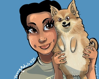 CUSTOM Drawing of you & your pet!