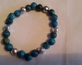 Streachy bracelet, Gem Stone