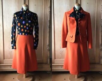 Wonderful 1960s wool dress and jacket set,