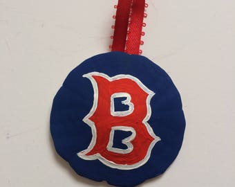 Boston Red Socks Sand Dollar Christmas Ornament-Boston, Boston Red Socks, New England, Christmas ornament, sand dollar ornament, sand dollar