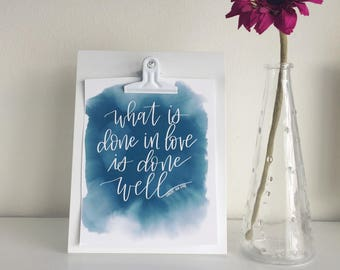 What is done in love DIGITAL DOWNLOAD