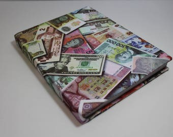 World Money Booksock Bookcover Protector Stretchable Agenda Organizer School Supplies