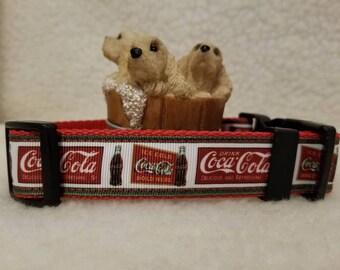 Soda Pop Handmade Dog Collar 1 Inch Wide Large & Medium