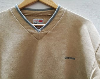 Vintage Levi's SWEATSHIRT//vintage clothing//vintage for men//Unisex//80s//90s//Calamity vintage//beige//Levis/Oversized