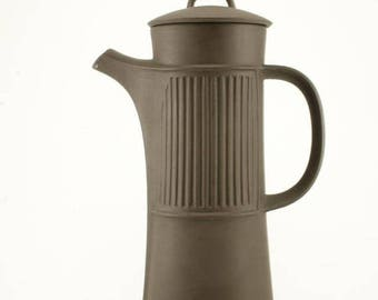 FLASH SALE Dansk Designs Dinnerware Coffee Pot Vintage Flamestone/Flameware Fluted Brown designed by Jens Quistgaard Denmark
