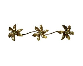 Brass Regency Flower Wall- or Ceiling Light in the style of Willy Daro, 1970's Belgium - Vintage ceiling light - Vintage Design lighting