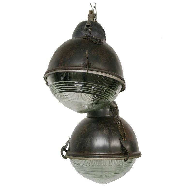 Industri le lampen van de 39 bal 39 met glas jaren 1930 - Licht industriele vintage ...