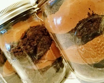 Six (6) Chocolate Cake Jars