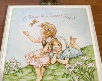 Vintage Hallmark 1979 Mini Sign A Sister is a Special Friend