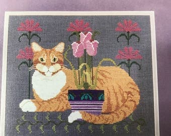Vintage The Cricket Collection Counted Cross Stitch The Cat pattern no 156