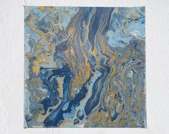 "Abstract Painting | Modern Art | Wall Art | Acrylic Pour | Fluid Art | Original Artwork | Contemporary | Home  Decor | 8x8"" | 20x20cm"