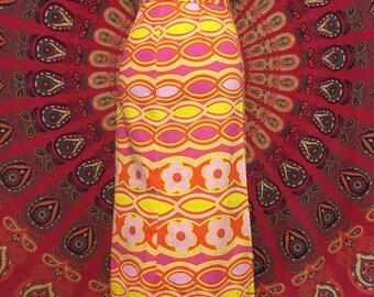 70s handmade floral skirt