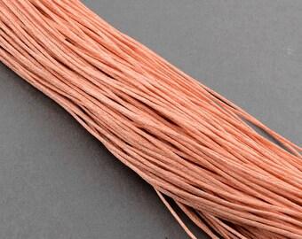 waxed cotton cord 0.7mm LightSalmon 10m