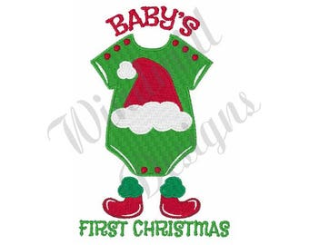 Baby's First Christmas - Machine Embroidery Design