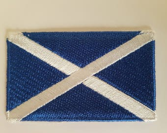 Scotland flag St Andrews flag Brand new iron on Sew on Patch Embroidered transfer