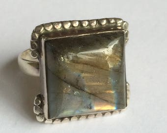 Labradorite  & Silver ring