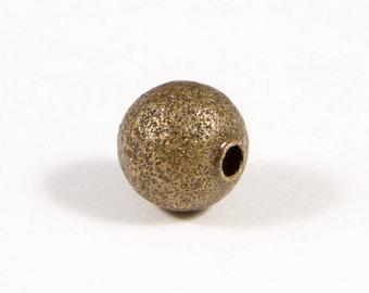 "#21312-50 beads 8 mm ""stardust"" aged bronze"