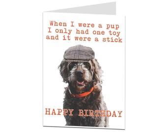 Funny Birthday Card. Dog Card. Birthday Card From Dog. Card For Dog Lovers. Card From Pet. Funny Dog Card. Dog Owner Card