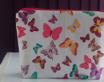 Butterflies makeup bag, cosmetics bag, toiletries bag