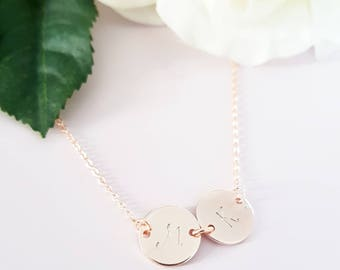 Rose Gold Intial Necklace - Personalised monogram necklace