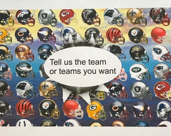 Precut Football Team Helmets- Tell us the TEAM or TEAMS you want - Edible images for cakes, cupcakes and cookies